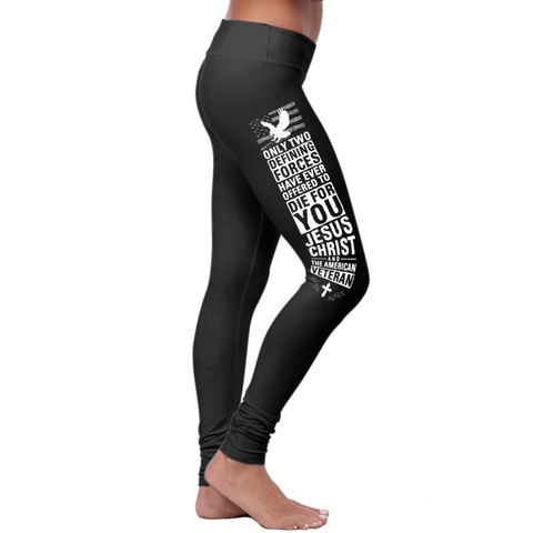 """Die For You Veteran"" Christian Leggings Series - Speedy Trends"