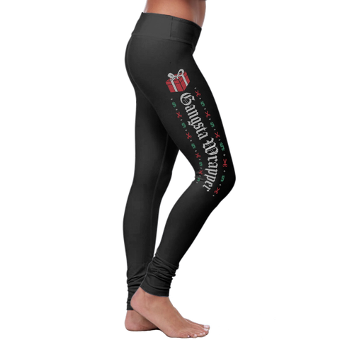 """Gangsta Wrapper"" Christmas Leggings Series - Speedy Trends"
