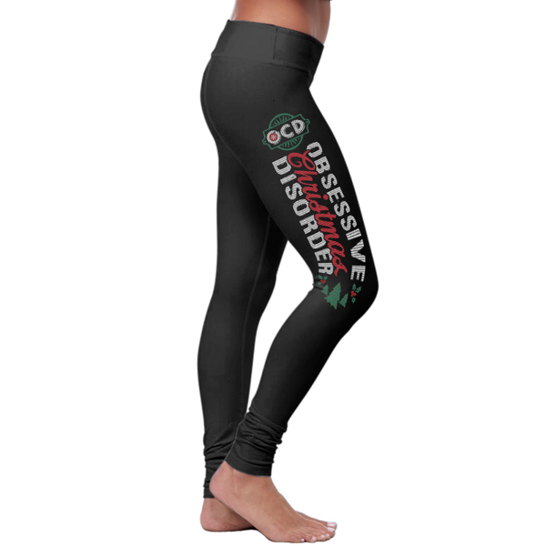 """Obsessive Christmas Disorder""  Christmas Leggings Series - Speedy Trends"