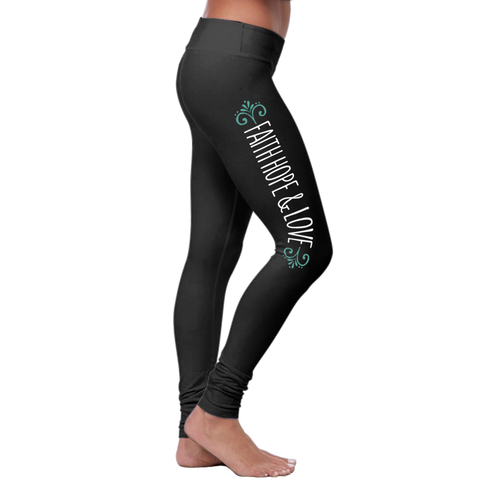 """Faith Hope Love"" Christian Leggings Series"