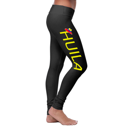 """Huila"" Leggings (Colombian Sayings Series) - Yellow"