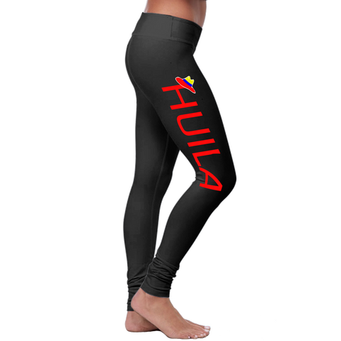 """Huila"" Leggings (Colombian Sayings Series) - Red - Speedy Trends"