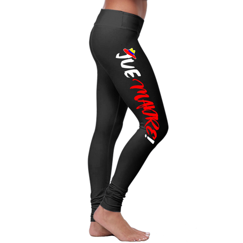 """Jue Madre!"" Leggings (Colombian Sayings Series) - Red - Speedy Trends"