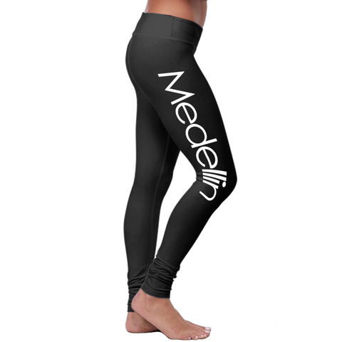 """Medellin"" Leggings (Colombian Sayings Series) - Speedy Trends"