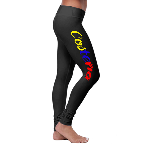 """Costeña 2"" Leggings (Colombian Sayings Series) - Speedy Trends"