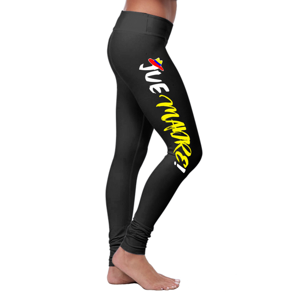 """Jue Madre!"" Leggings (Colombian Sayings Series) - Yellow"