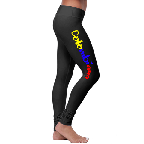 """Colombiana #2"" Leggings Colombian Sayings Series - Speedy Trends"