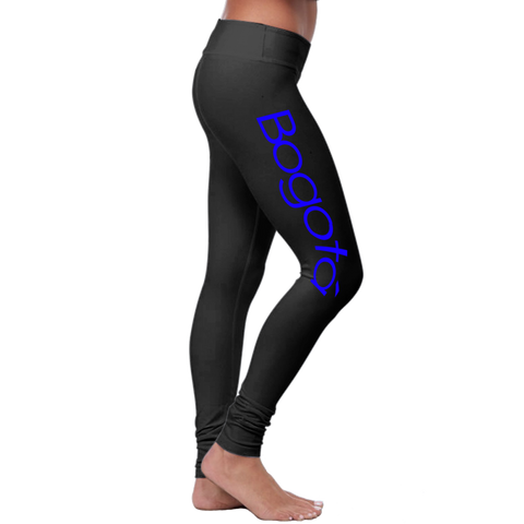 """Bogota"" Leggings (Colombian Sayings Series) - Blue - Speedy Trends"