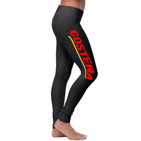 """Costeña"" Leggings (Colombian Sayings Series) - Speedy Trends"