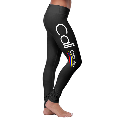 """Cali"" Leggings (Colombian Sayings Series) - Speedy Trends"