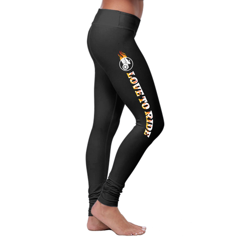 """Love To Ride"" Leggings - Speedy Trends"