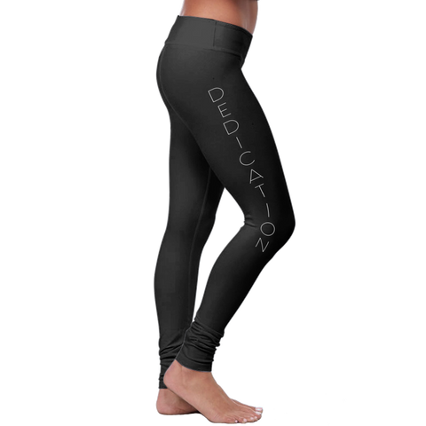"""Dedication"" - Motivational Leggings - Speedy Trends"