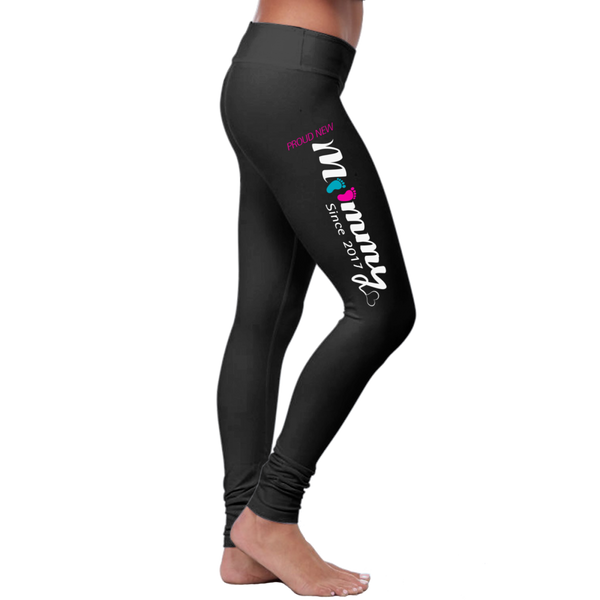 """Proud New Mommy"" New Mom Leggings Collection - Speedy Trends"