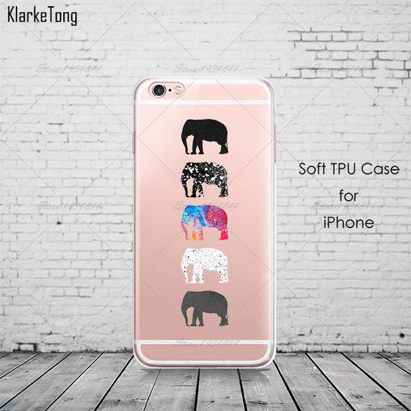 Elephants Silicone iPhone Case Cover (iPhone 5, 6 & 7) Offer
