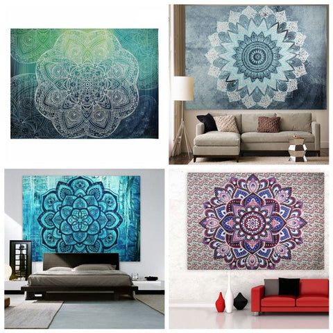 Indian Bohemian Mandala Tapestry