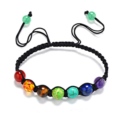 Chakra Beads Bracelets Adjustable Braided Rope - Speedy Trends