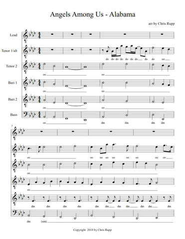 Angels Among Us - Sheet Music