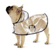 Transparent waterproof French Bulldog Raincoat