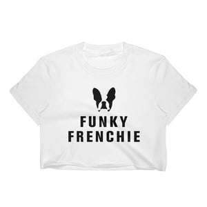 Funky Frenchie Women's Crop Top Black Logo