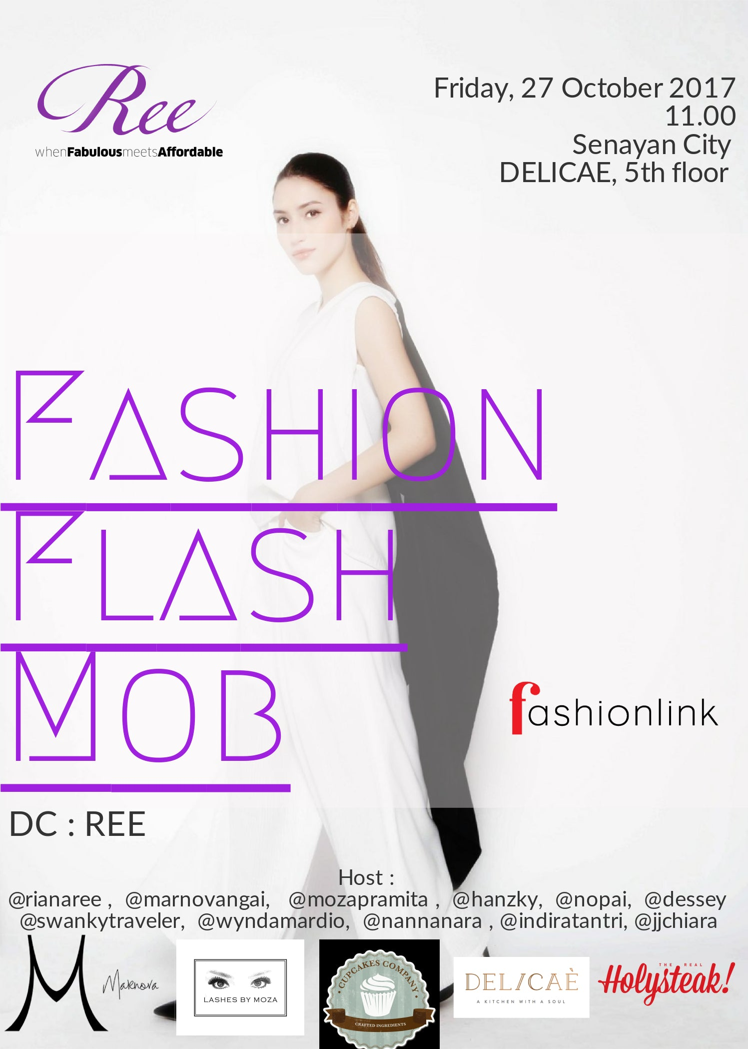 Serunya REE Fashion Flash Mob di Jakarta Fashion Week