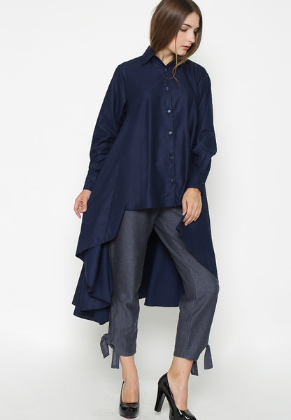 Long Tail Shirt - Navy