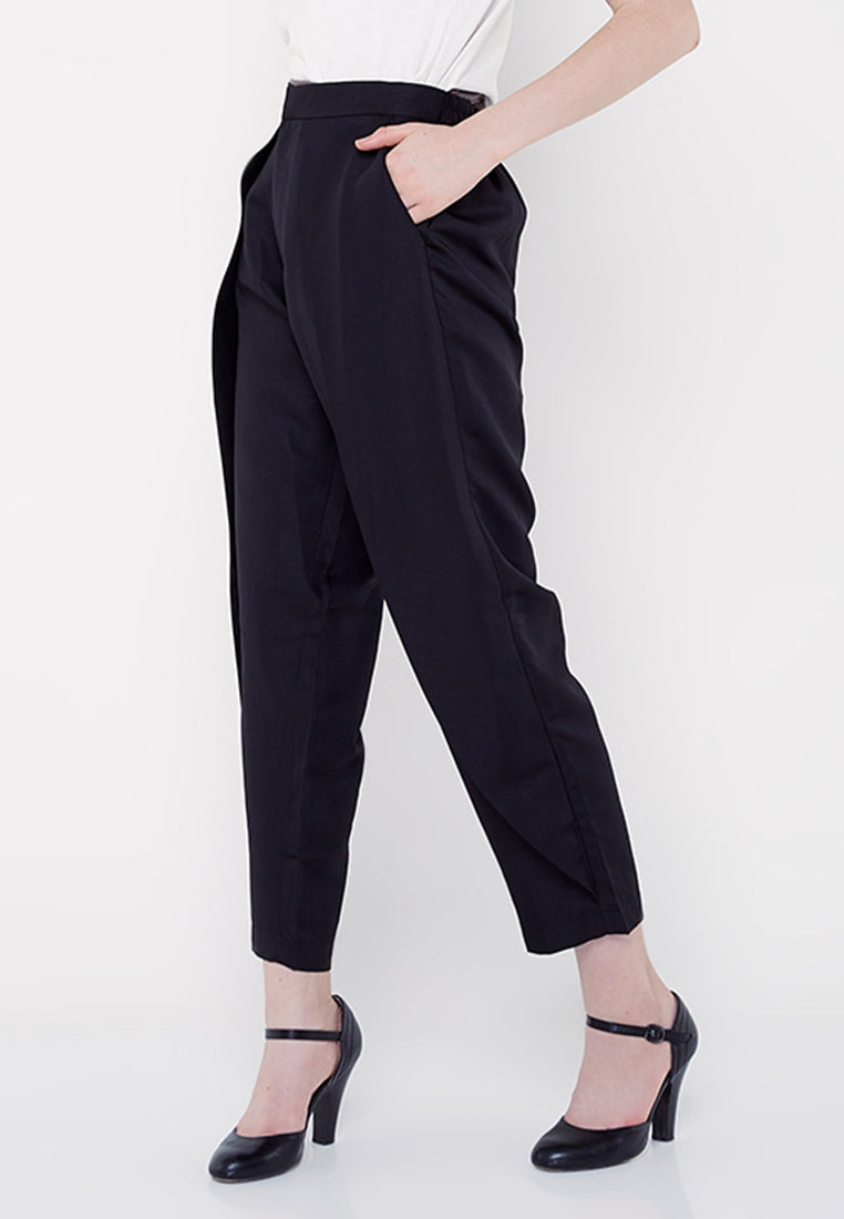 Everyday Long Capri Pants- Black