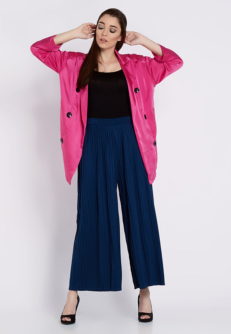 Light Fancy Coat - Fuchsia