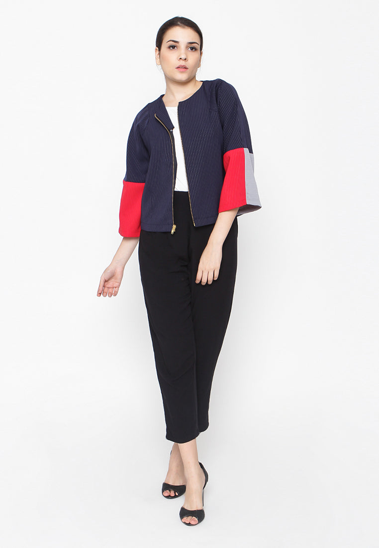 Three Tone Jacket - Navy