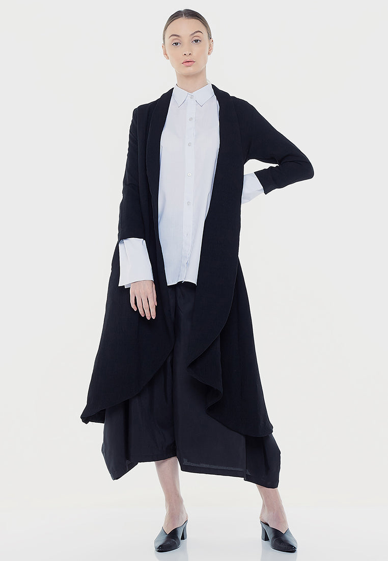Classic Long Cardigan - Black