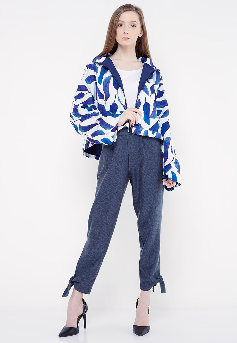 Three Ways Hoodie Jacket - Blue & White