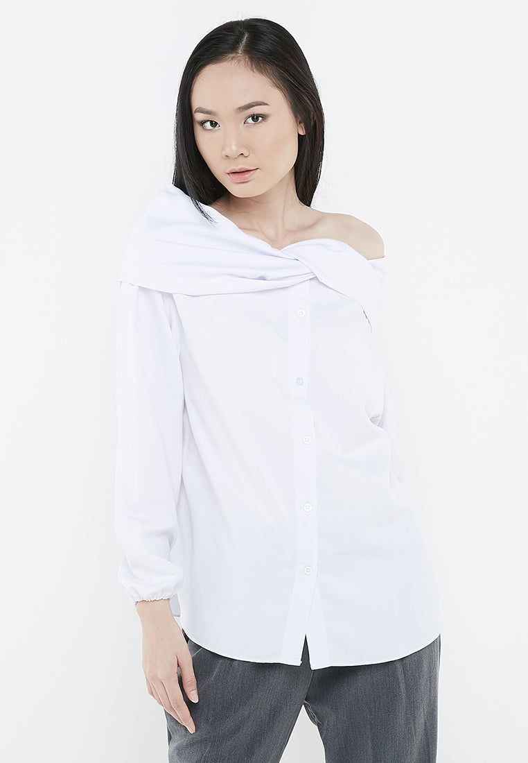 Two Ways Sabrina Blouse - White