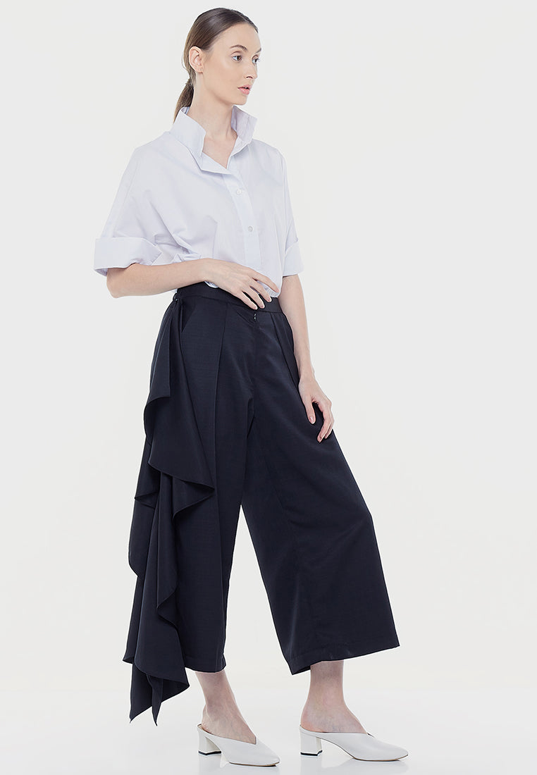 Side Raffle Two Ways Pants - Black