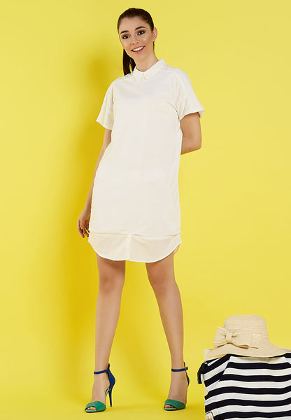 Shirt Dress - Dusty White