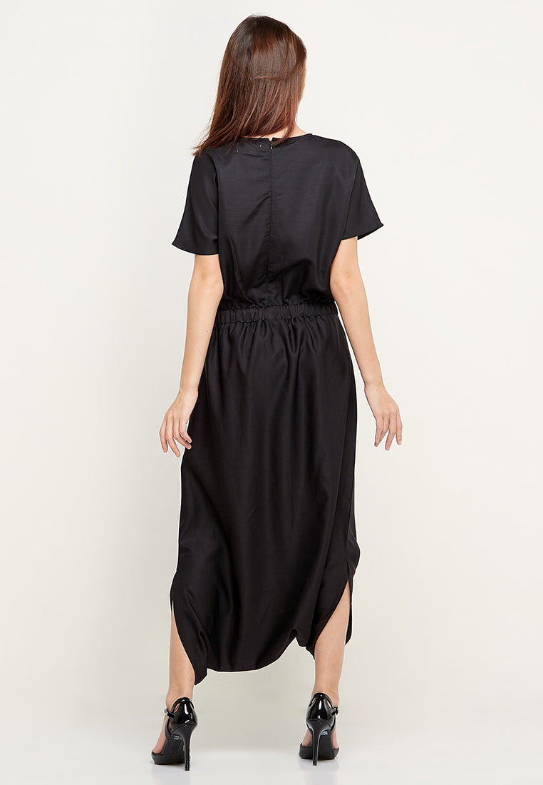 V-Neck Jumpsuit - Black