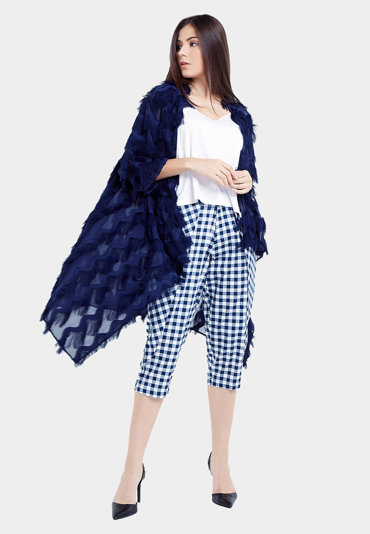 Fancy Feathers Outer - Navy