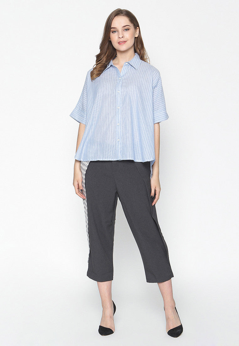 Pinstripe Shirt - Blue