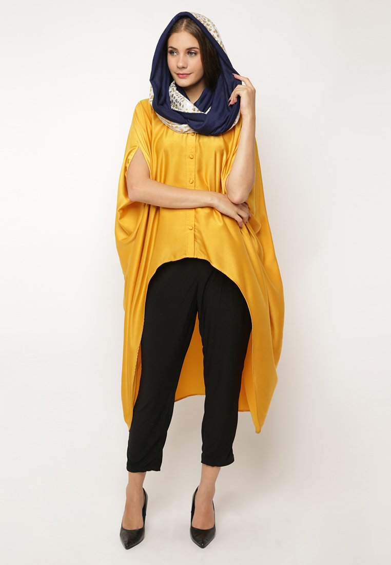 High Low Dramatic Blouse - Yellow