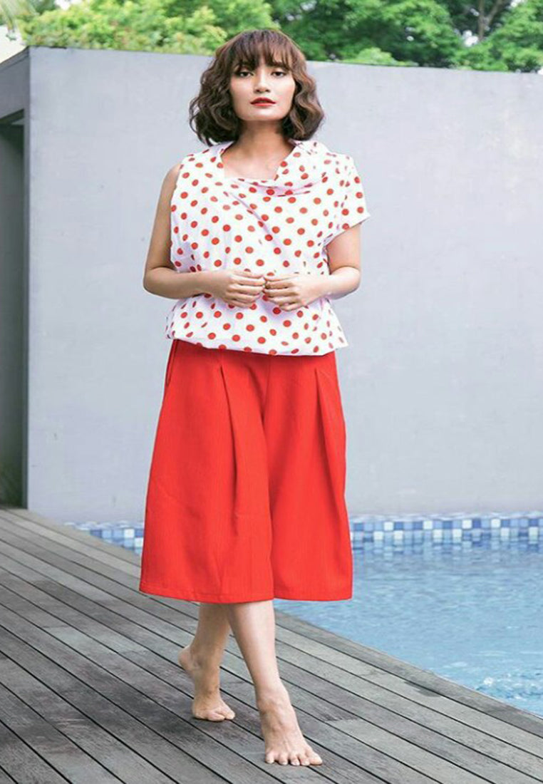 Polkadot One Sleeveless Blouse