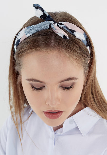 Head Scarf - Black & Grey