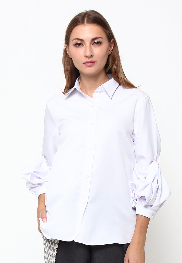 White Shirt With Detail Sleeves