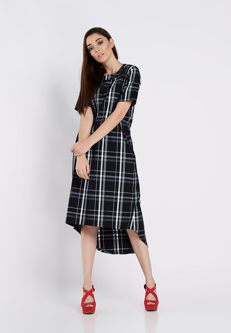 High Low Chic Dress - Black