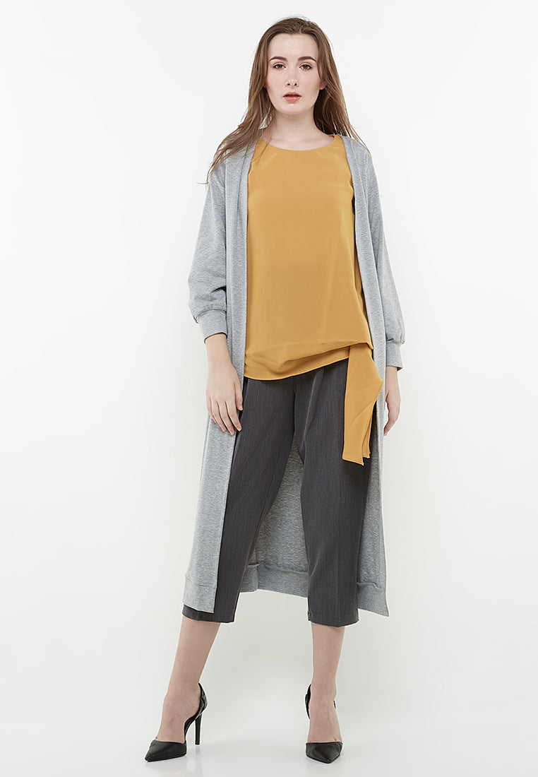 Long Sleeves Cardigan - Grey