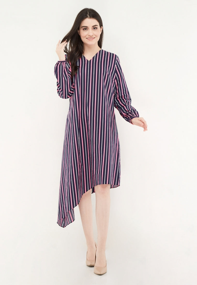 Asymmetrical Multicolor Dress