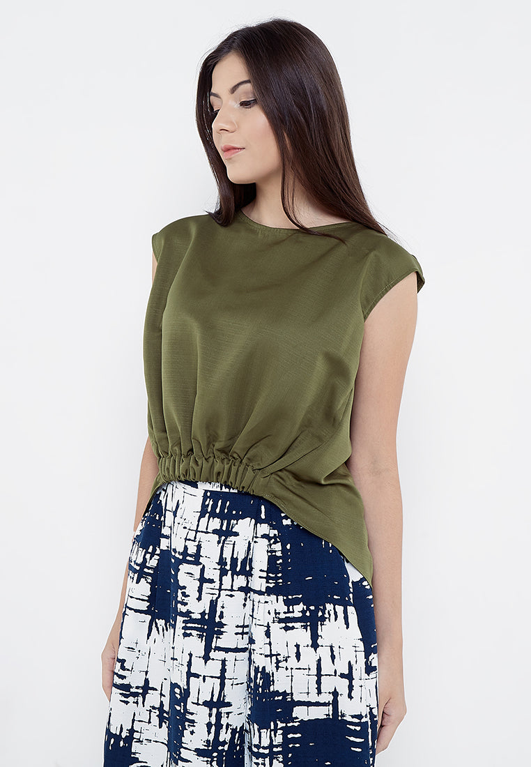 High Low Blouse - Green
