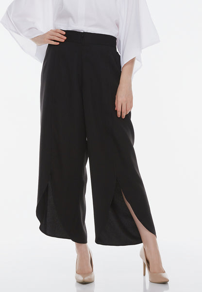 Front Slit Pants - Black