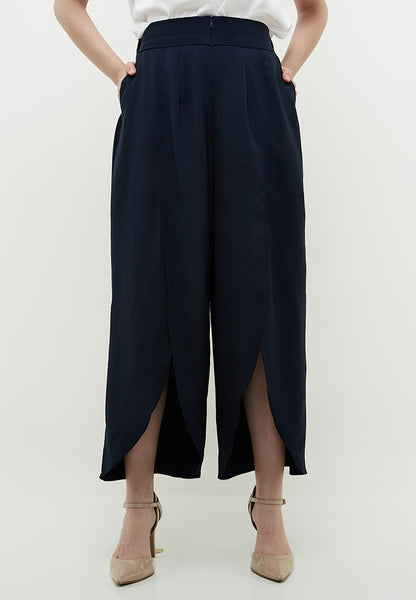Front Slit Pants - Navy