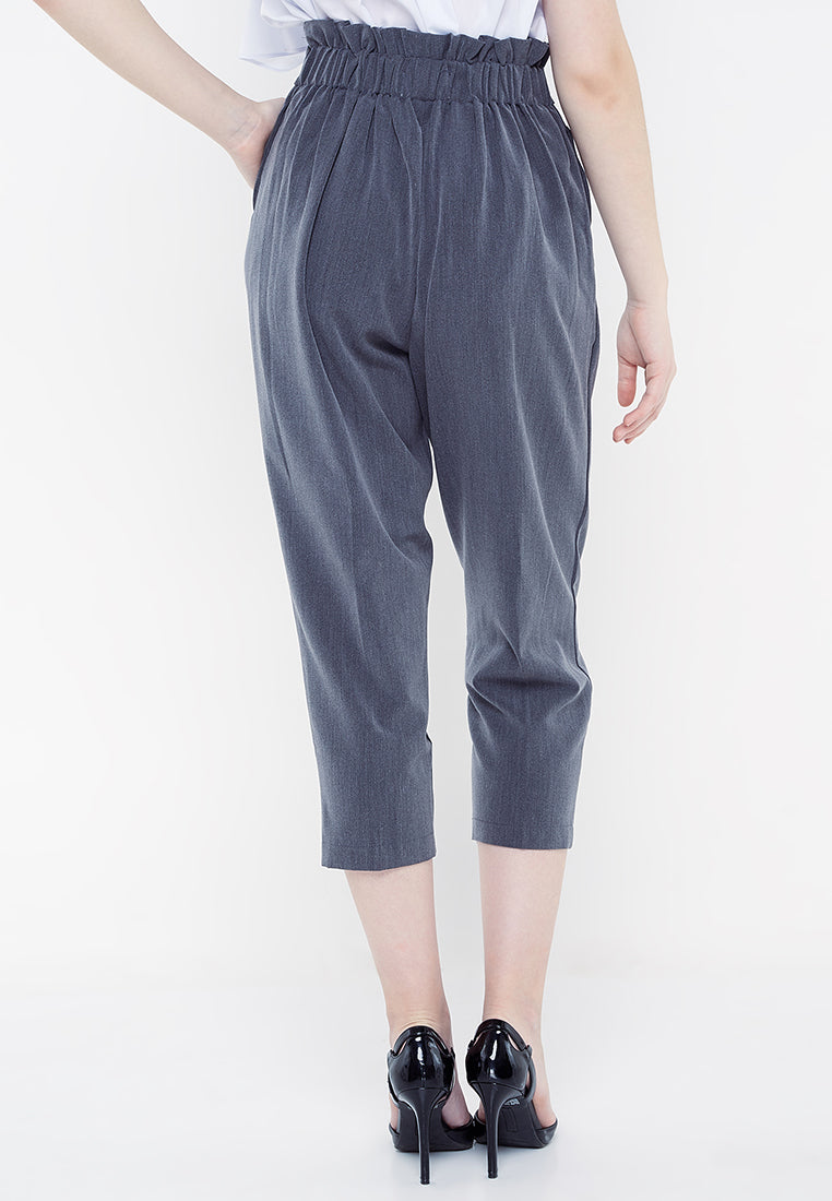 Two Botton Office Pants - Grey