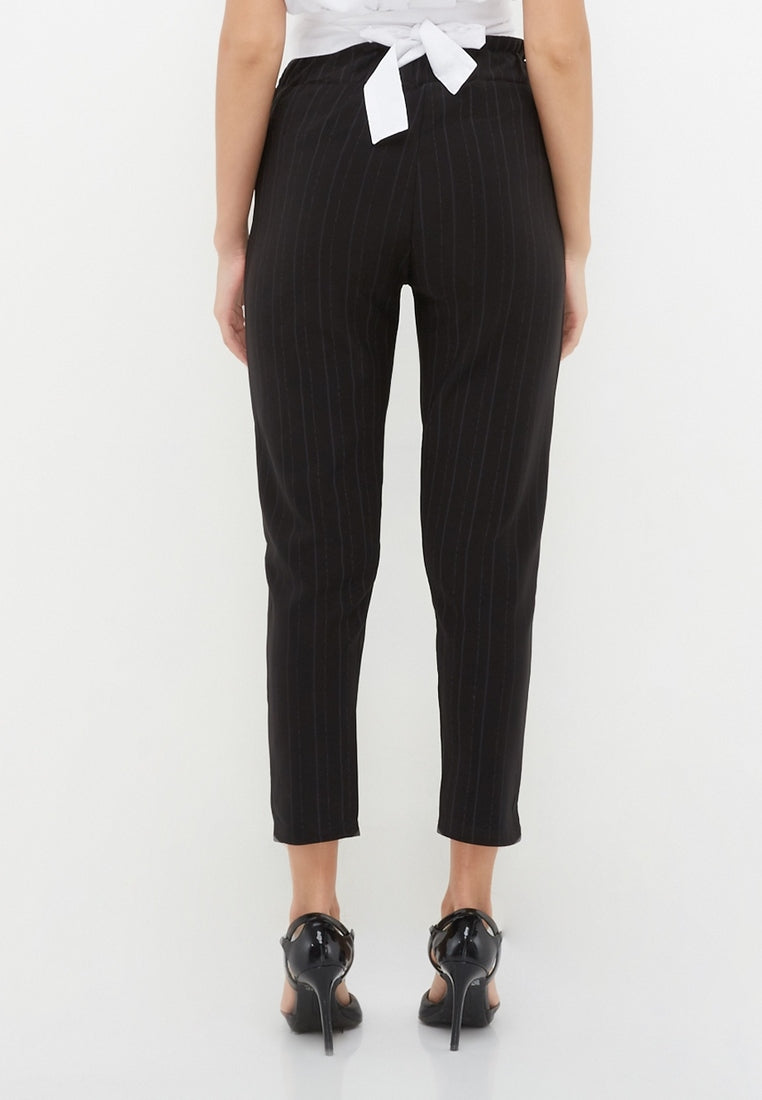 Office Pants - Stripe Black
