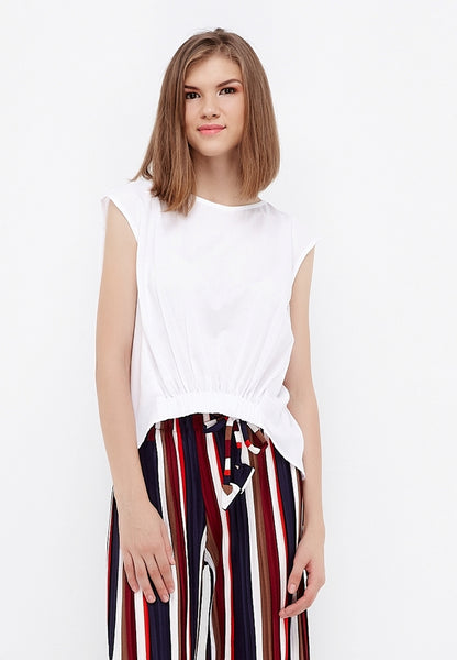 High Low Blouse - White