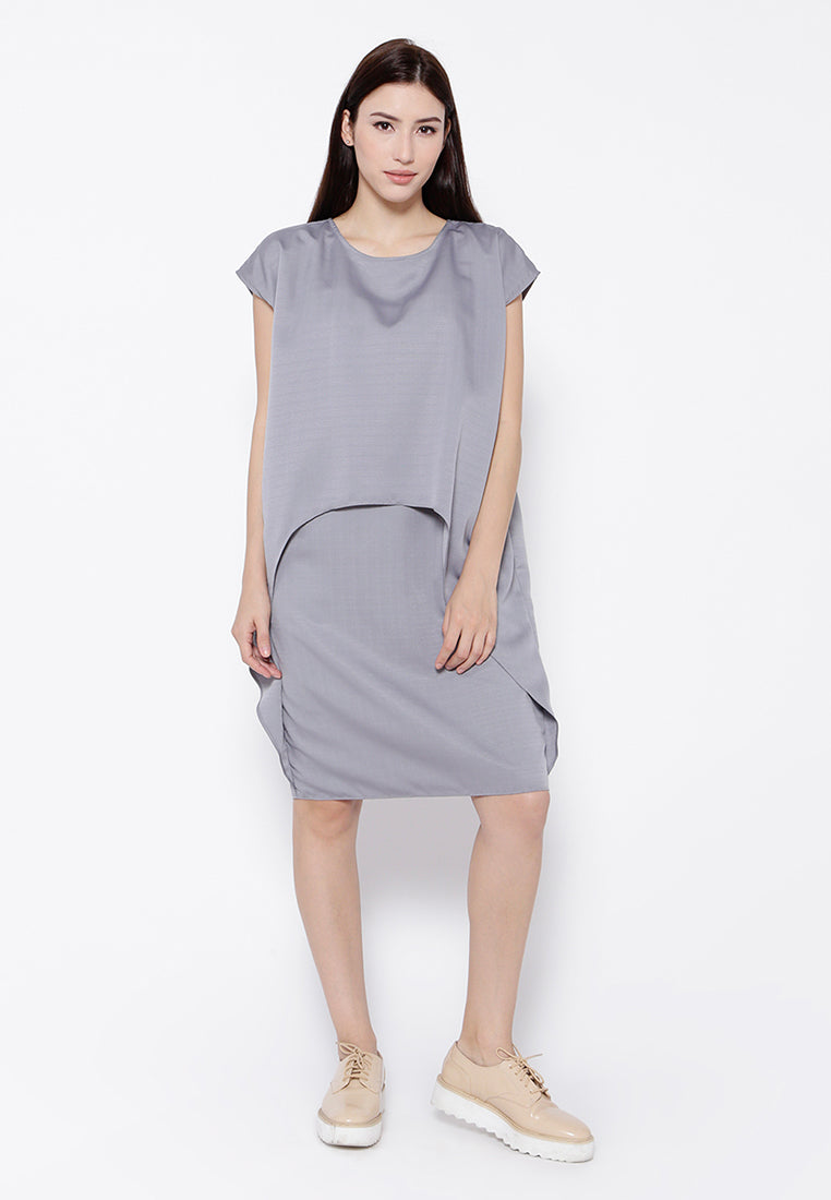 Boxy Layer Dress - Grey